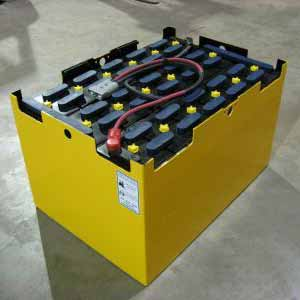 Deep cycle forklift battery bank