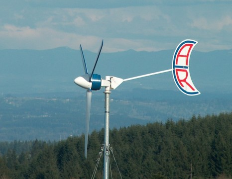 Abundant Renewable Energy ARE110 wind turbine