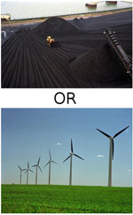 coal or wind power