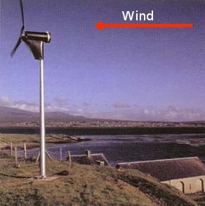 Proven wind turbine downwind