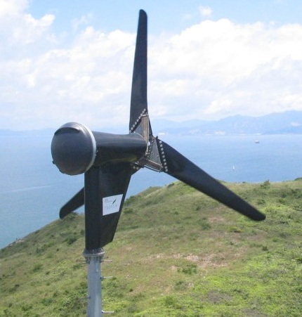 Proven wind turbines use springs to pitch the blades
