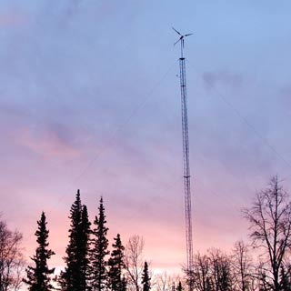 wind turbine at the power-talk homestead