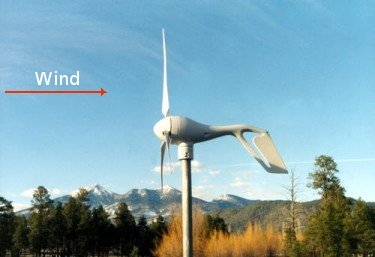 soutwest windpower air-x upwind turbine